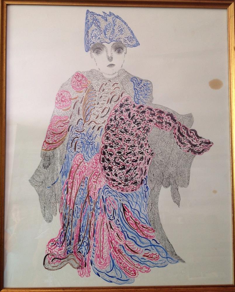 Dibujo inédito de Josefa Tolrà