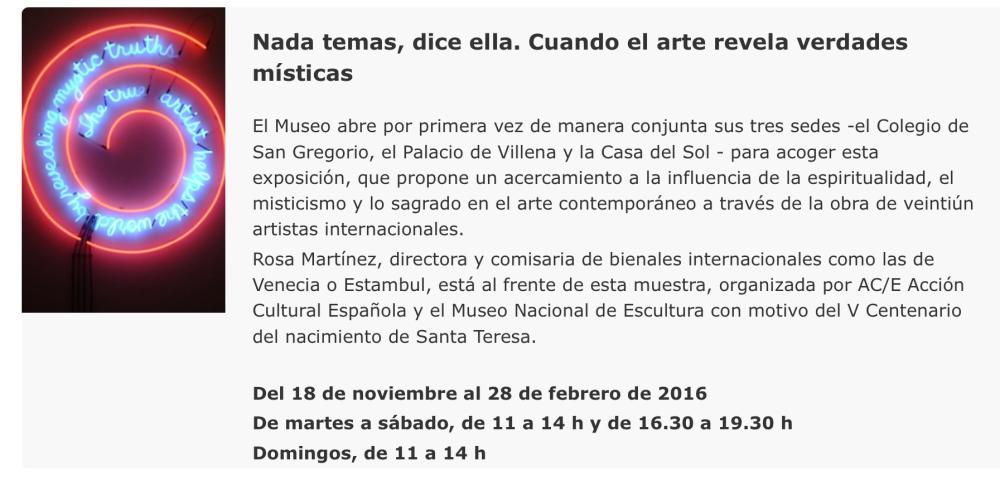 Josefa Tolrà en el Museo de Escultura de Valladolid
